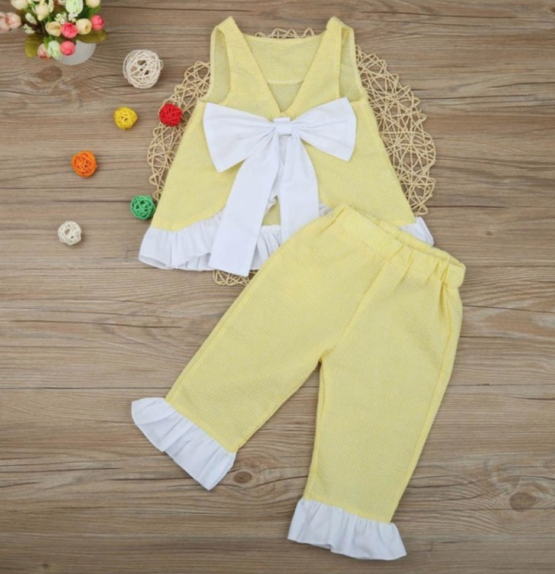 The Charlotte Outfit - Yellow (Back)