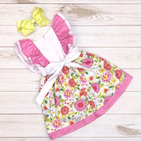 Melina & Me - Spring Floral Dress (Back)