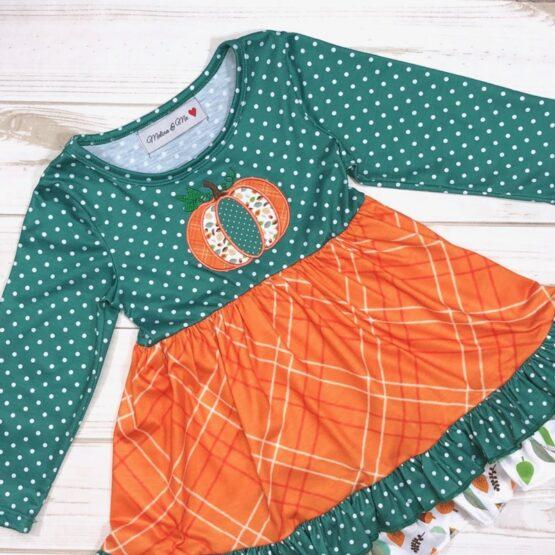 Melina & Me - Pumpkin Harvest Dress (Front-2)