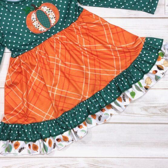 Melina & Me - Pumpkin Harvest Dress (Front-3)