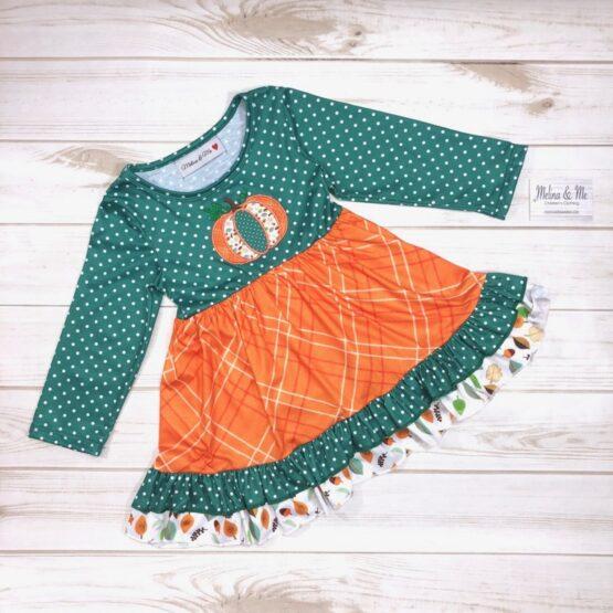 Melina & Me - Pumpkin Harvest Dress (Front)