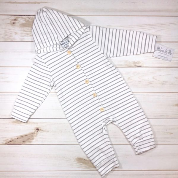 Max Hooded Jumper – Striped White
