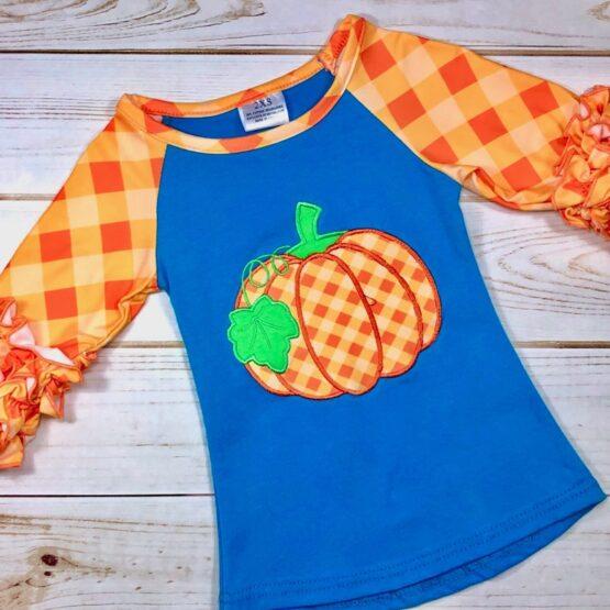 Melina & Me - Preppy Pumpkin Shirt (Front)