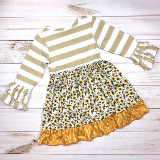 Melina & Me - Sunflower Field Dress (Back)