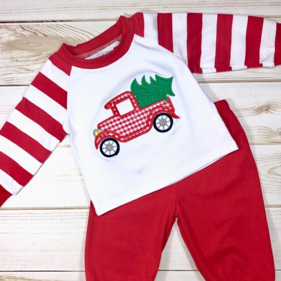 Melina & Me - Vintage Christmas Truck Outfit (Front)