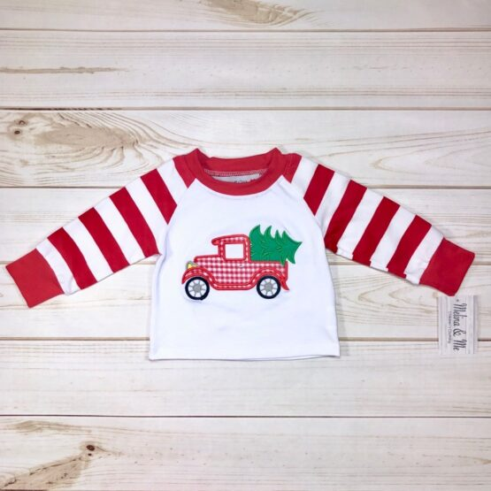Melina & Me - Vintage Christmas Truck Outfit (Top)
