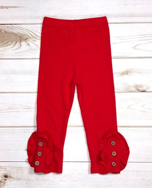 Melina & Me - Button Pants (Red)