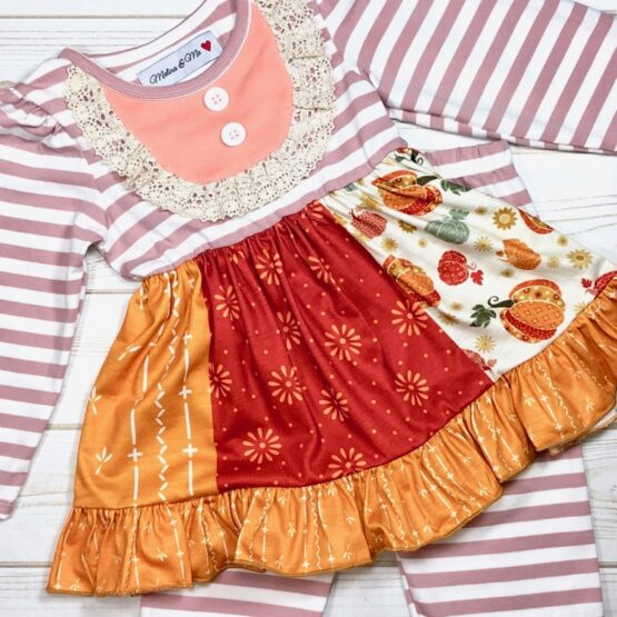 Melina & Me - Pumpkin Spice Outfit (Front)