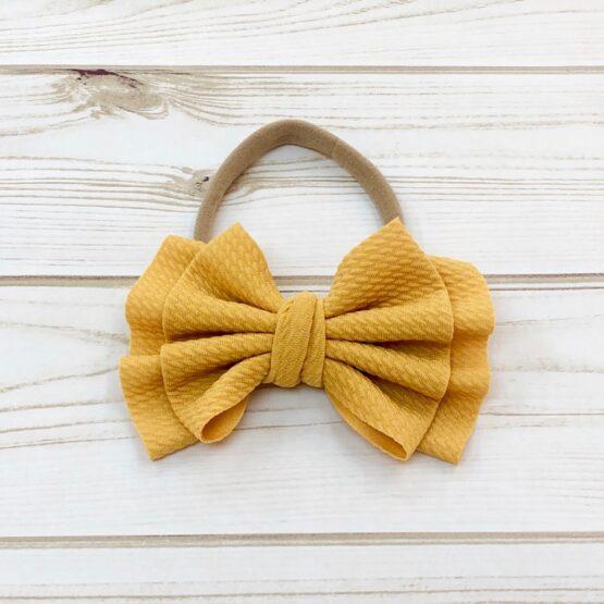 Melina & Me - Bow w: Headband (Mustard)
