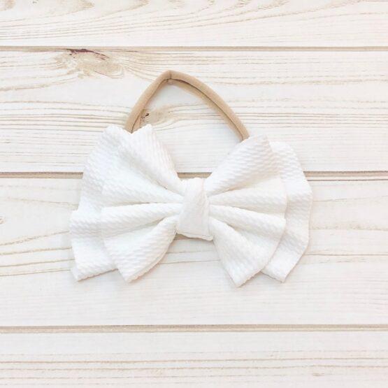 Melina & Me - Bow w: Headband (White)