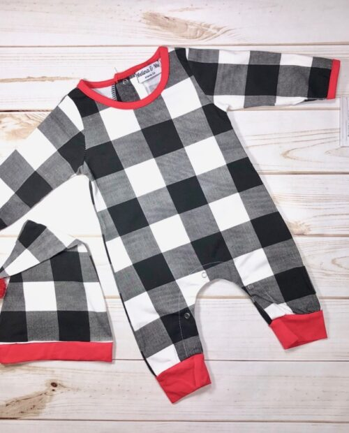 Melina & Me - Holiday Checkered Jumper w: Hat