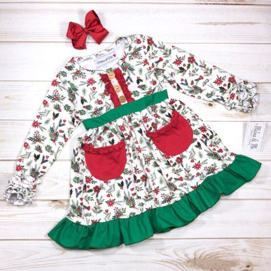 Melina & Me - Holly Jolly Christmas Dress