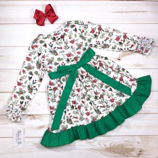 Melina & Me - Holly Jolly Christmas Dress (Back)