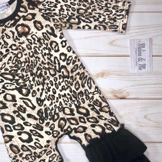 Melina & Me - Leopard Romper (Print)