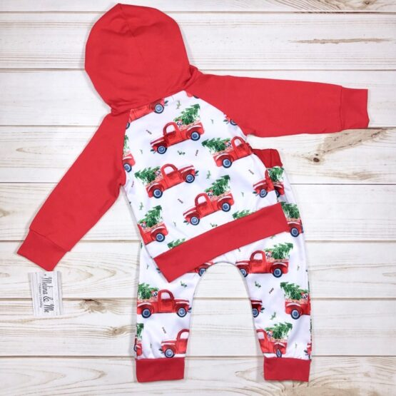 Melina & Me - Red Truck Sweatsuit (Back)