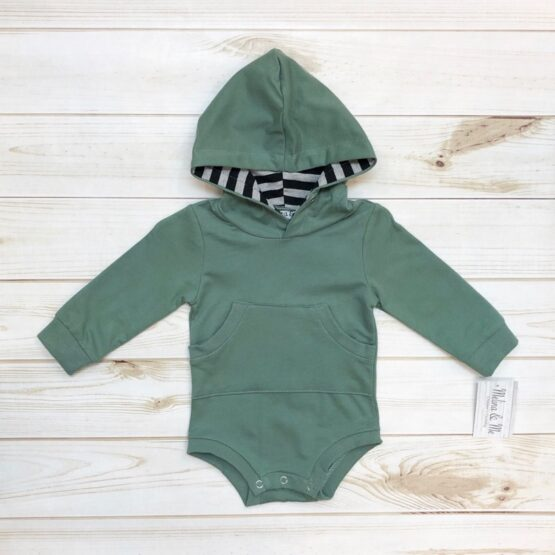 Melina & Me - Sage & Stripes Outfit (Top)