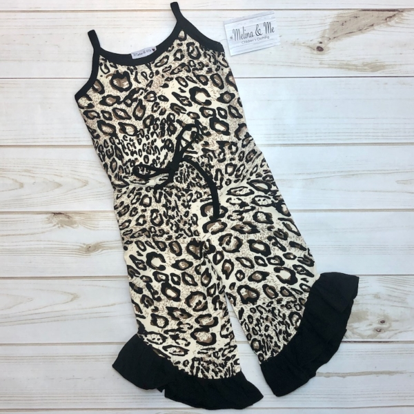 Leopard Romper (Strapped)